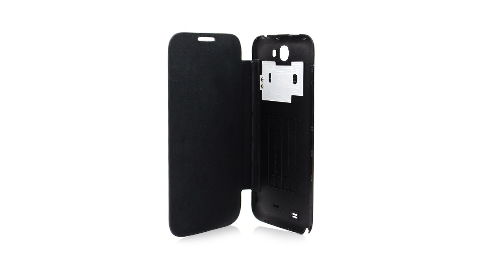Protective PU Leather + PVC Flip-Open Case for Samsung