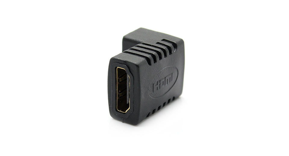 Gold Plated Right-angle HDMI Female to Female Adapter/C