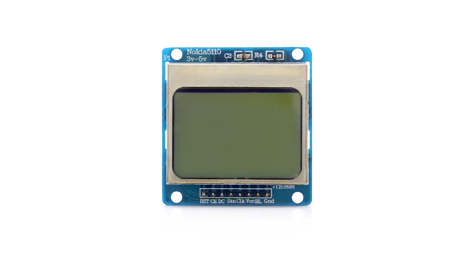 "Arduino Compatible 1.6"" Nokia 5110 LCD Module with Blue"