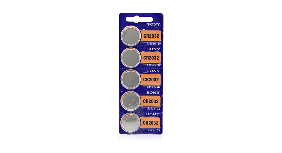 Authentic Sony CR2032 3V Cell Buttons Batteries (5-Piec
