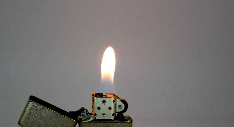 Genuine Zippo Metal Fuel Fluid Lighter with two-side fl