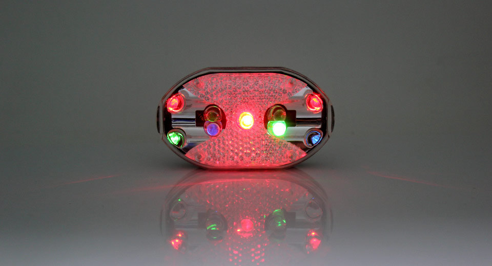 9-LED 7-Mode Safety Bike Tail Light with Mount 2 x AAA