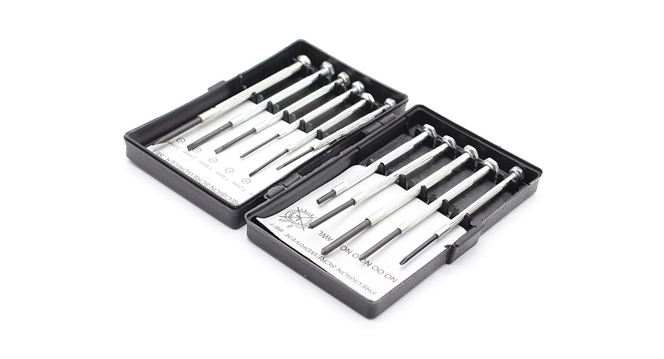 11 piece sae precision screwdriver set with case at fasttech worldwide free shipping. Black Bedroom Furniture Sets. Home Design Ideas
