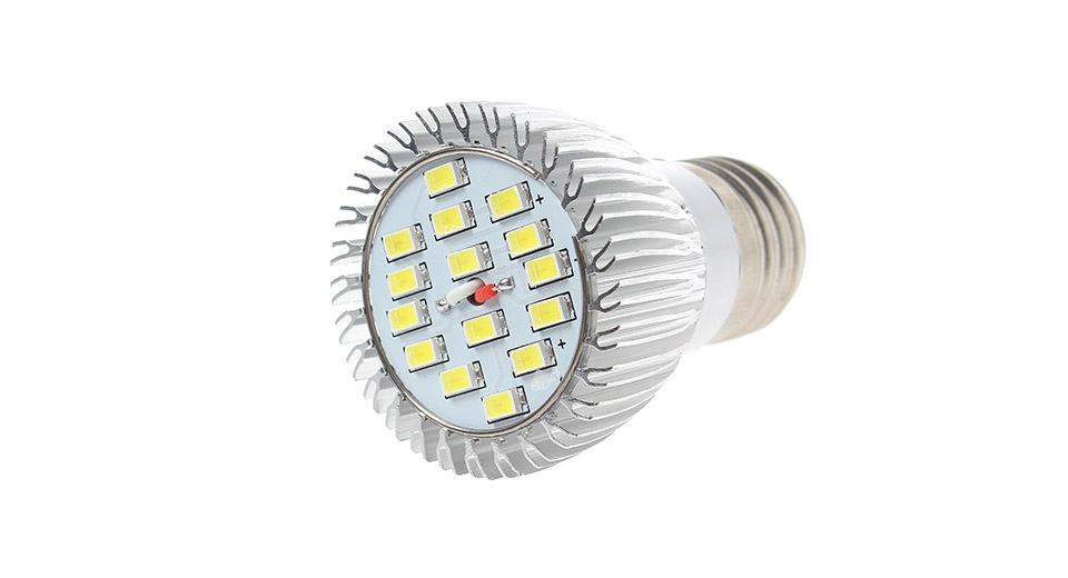 E27 6-9W 15-LED 600LM 6500K White LED Spot Light Bulb 8
