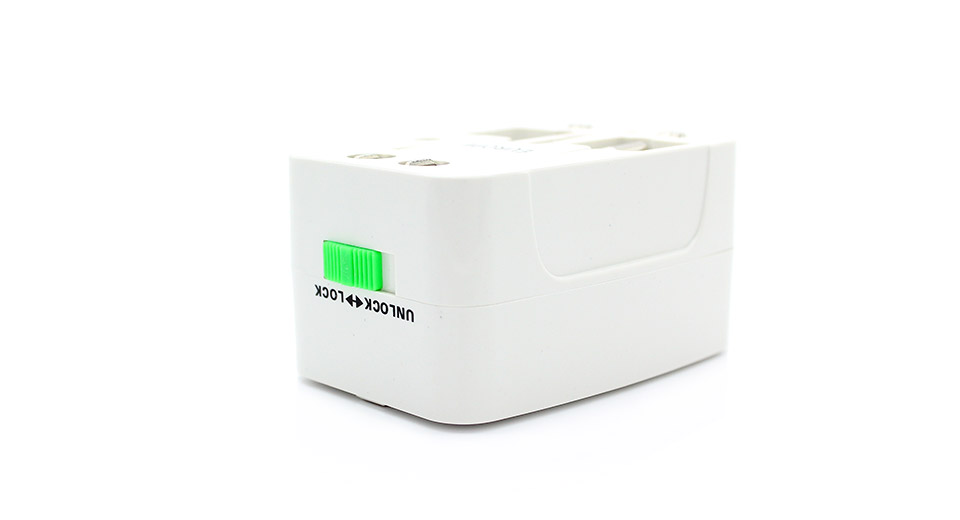 Compact Universal International Travel Power Plug Adapter