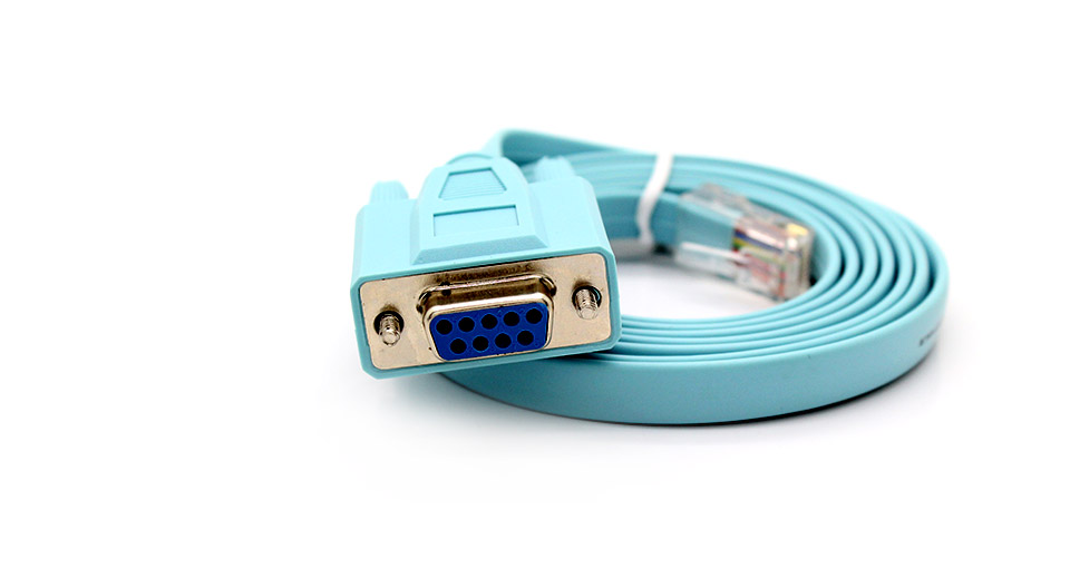 RJ45 Male to VGA Male Flat Adapter Cable 150cm x 9mm
