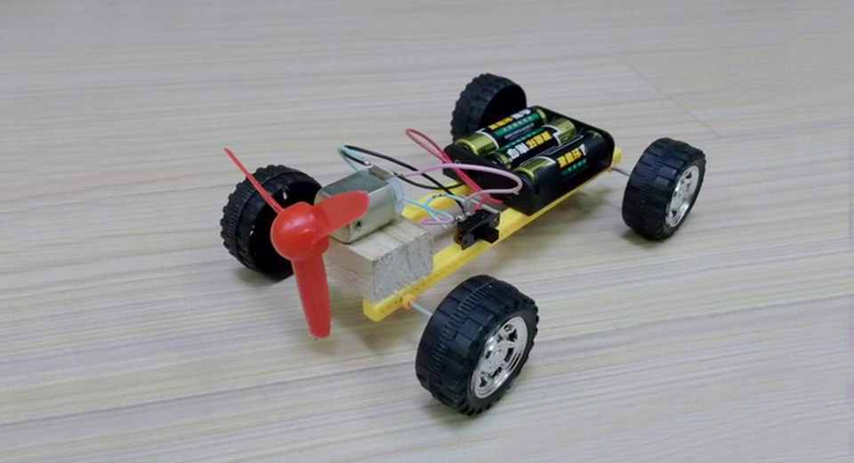 3 33 Diy Propeller Powered Race Car Large Fun For