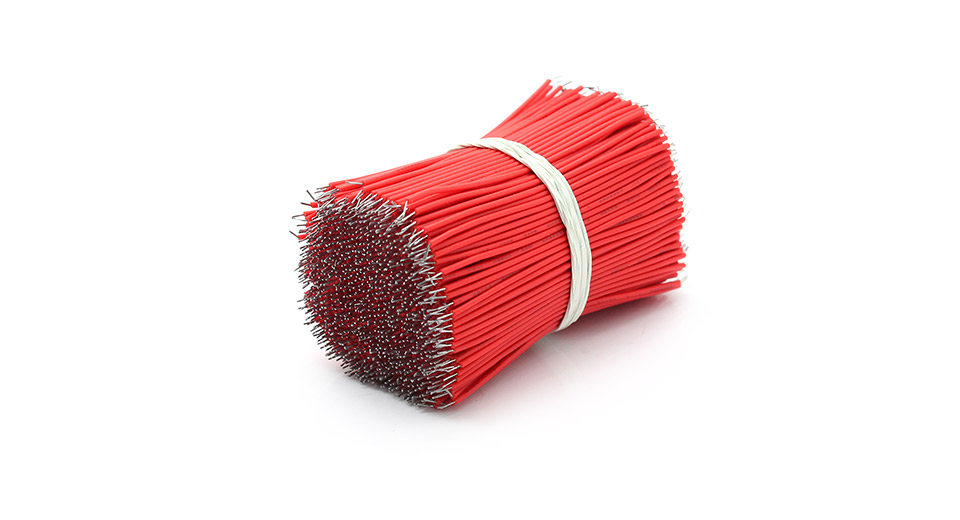 60mm 1007# 28 AWG Lead Wires (1000-Pack) - 60mm, Red: 1000-Pack