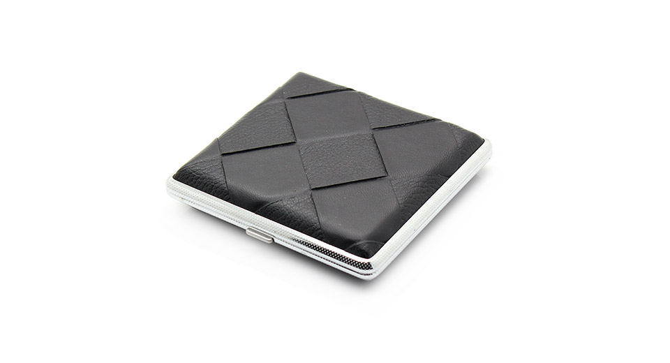 Ultrathin Elegant Leather Cigarette Case (Holds 20 Piec
