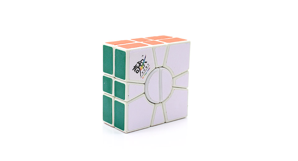 QJ 2-Layer Super Square One Puzzle Speed Cube white