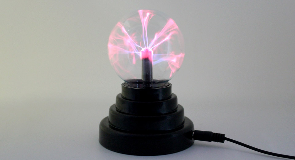 USB / 4 x AAA Powered Sound Activated Plasma Magic Ball