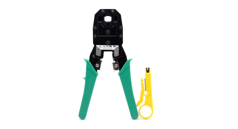 RJ45 Network LAN Cable Crimper Pliers Tool with a cable