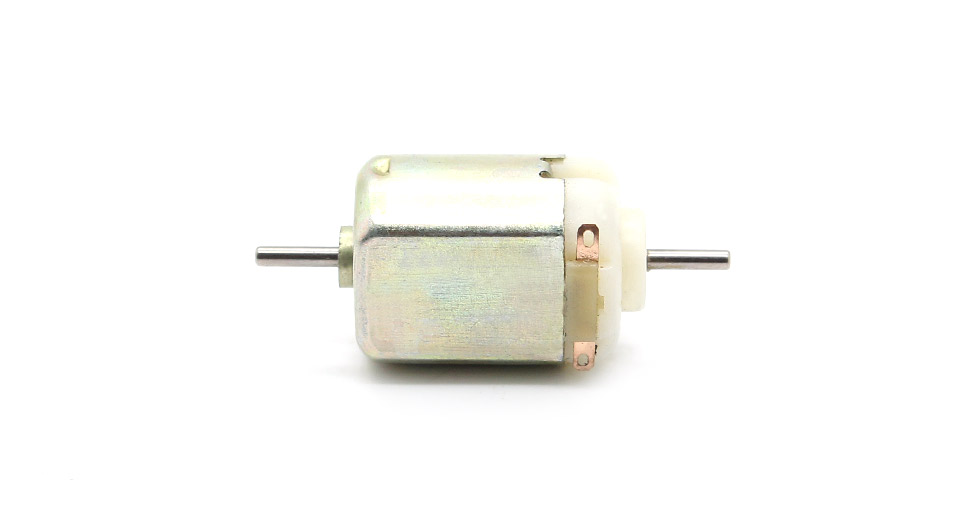 3-6V DC 130 Type Double Shaft Micro Motor (5-Pack)