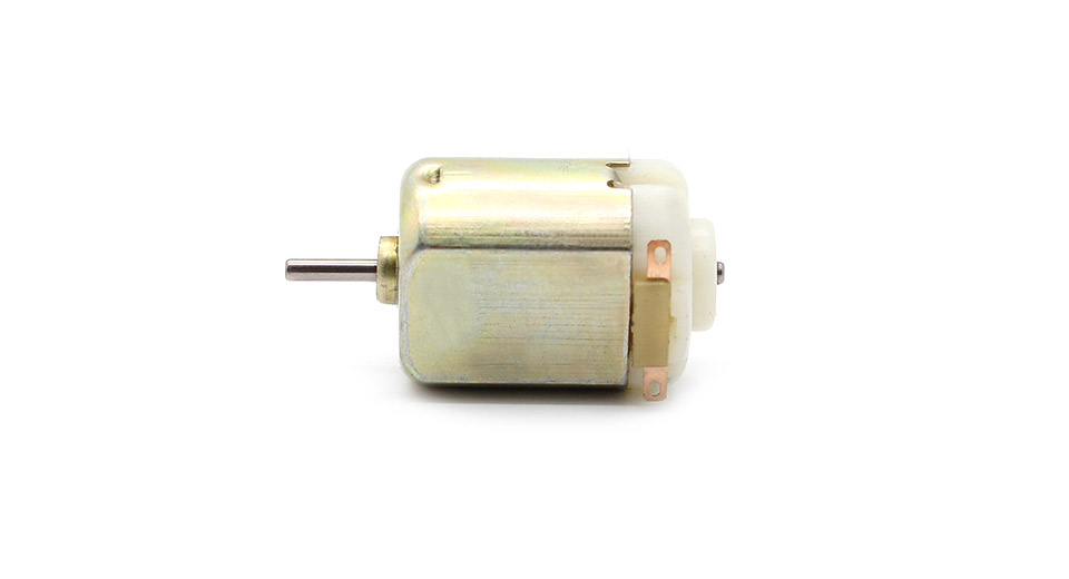 3-6V DC 130 Type Single Shaft Micro Motors (5-Pack)