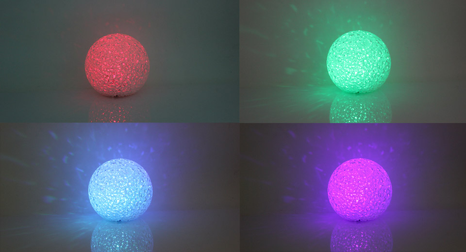 Crystal Ball Style LED Chromatic Lamp