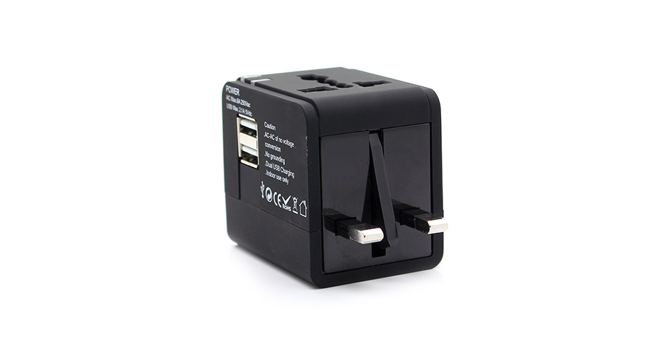 Universal 2100mA Dual USB Travel AC Power Adapter / Wall Charger