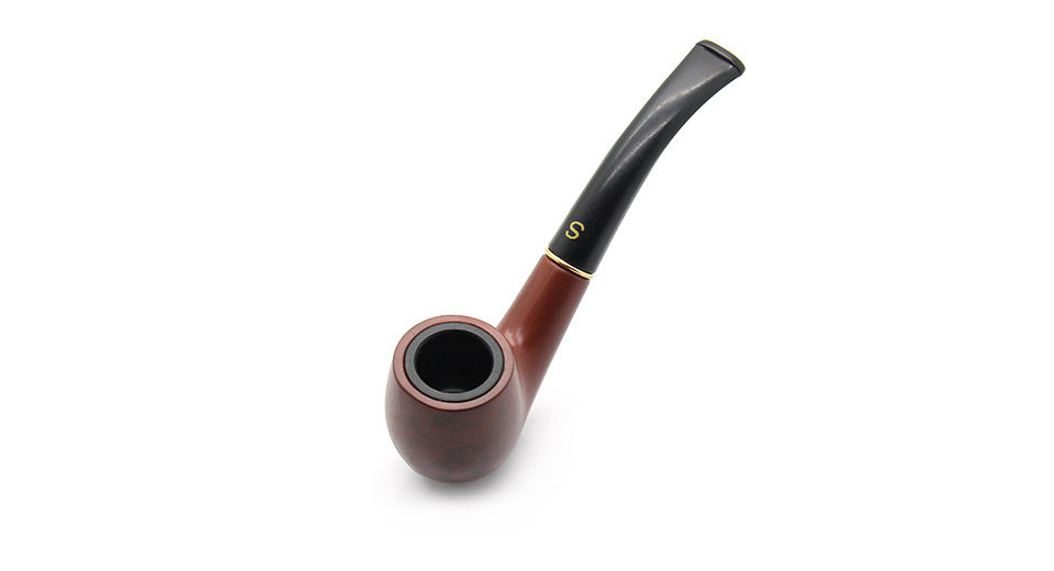 Polished Wooden Cigarette Pipe with Bag