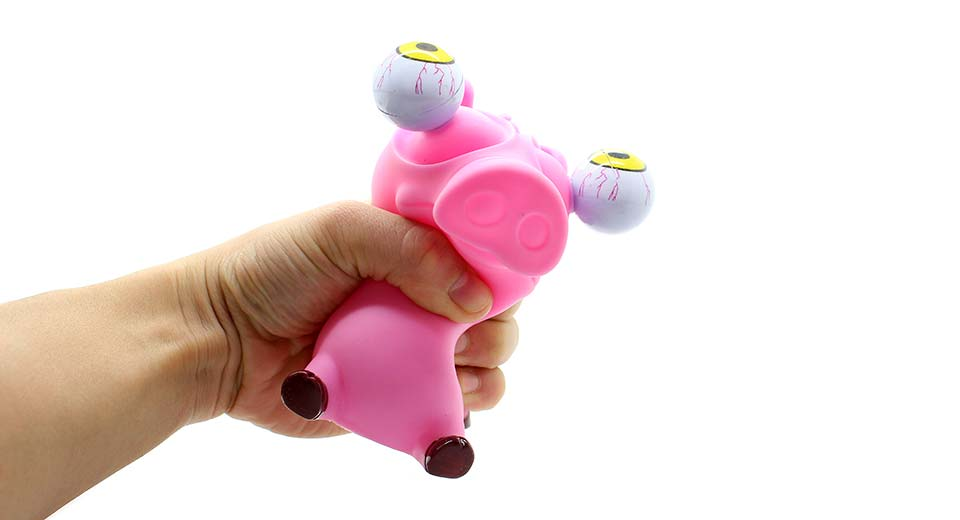 Stress Relief Toys : Pop out eyes doll pig stress reliever relief squeeze