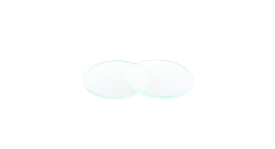 Optical Glass Lens for LED Flashlights (2-Pack) 18mm*1.