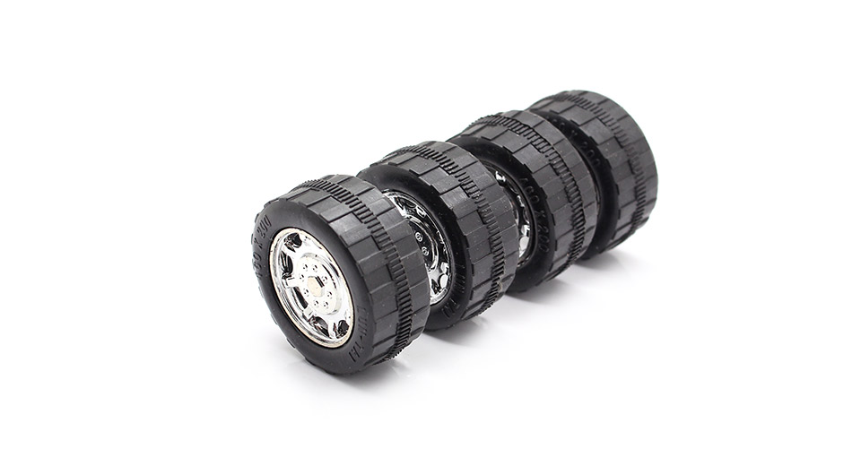 #45 Replacement Tyres for Toy Vehicle DIY (4-Pack) 3mm