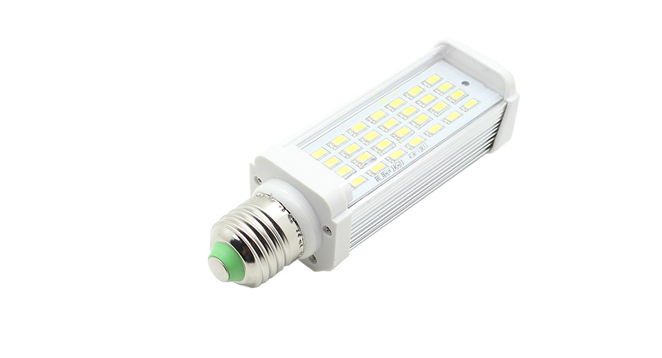 E27 5630 8W 650LM 6000~6500K 28-LED White Light Bulb AC