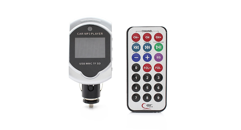 "1.8"" LCD MP3 Player FM Transmitter with Remote Controller"