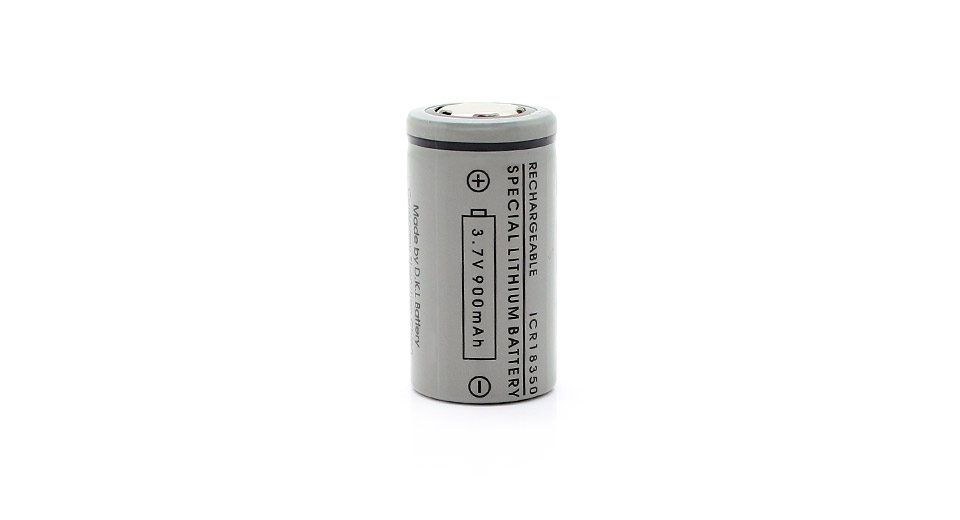Product Image: icr-18350-3-7v-900mah-rechargeable-lithium-battery