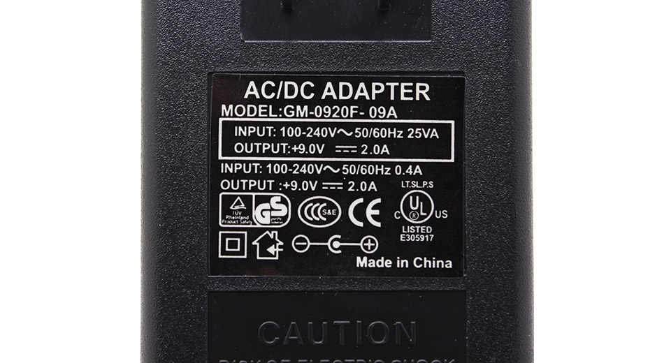 9V 2A Universal Replacement Power Supply AC Adapter 5.5