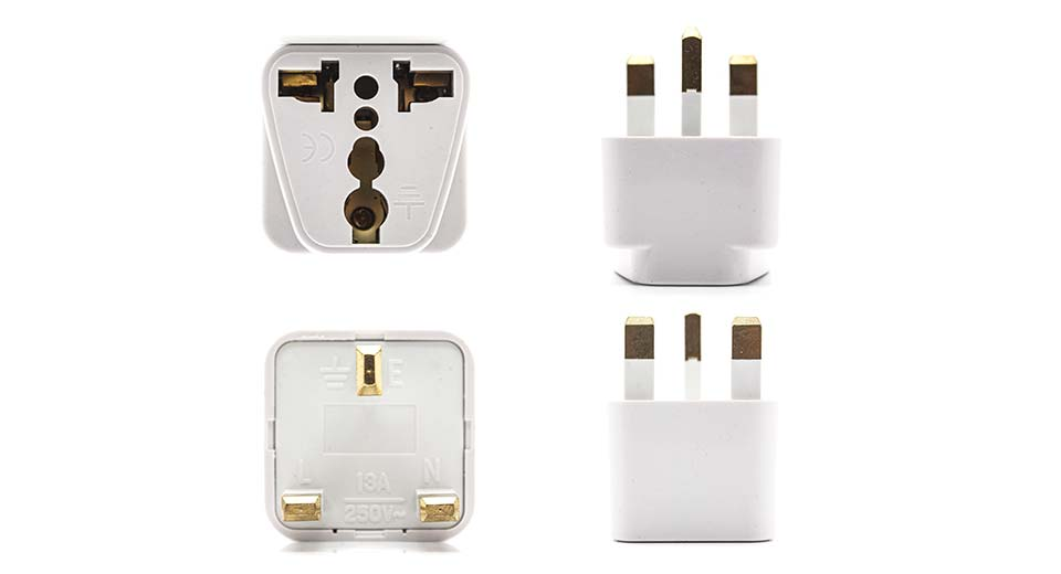 Universal UK Travel Charger Plug Adapters (3-Pack)