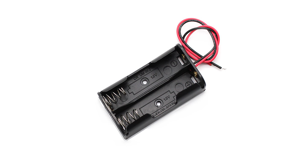 2*AA Parallel Batteries Holder Case Box with Leads