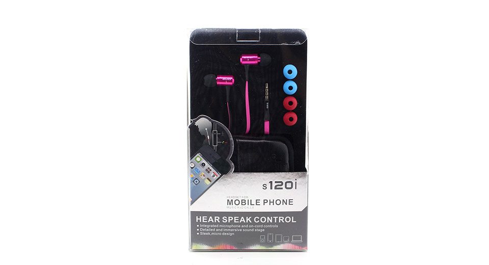 AWEI S120i Hi-Definition 3.5mm In-Ear Earphone with Mic
