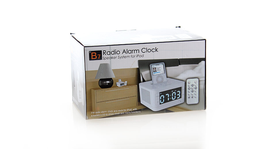 3 4 lcd radio alarm clock stereo speaker system. Black Bedroom Furniture Sets. Home Design Ideas