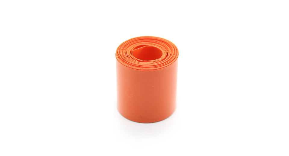 Product Image: single-18650-battery-pvc-heat-shrink-tubing-orange
