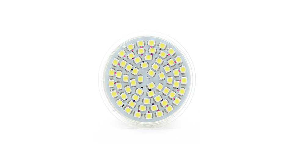 GU10 3W 5800-6500K 220lm 60-SMD LED White Light Lamp Cu