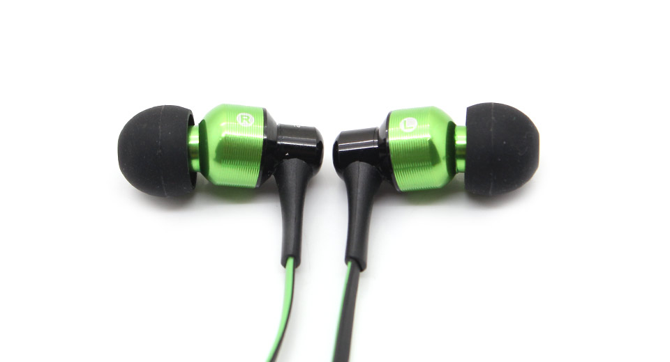 Earbuds with microphone green - rose gold earphones with microphone