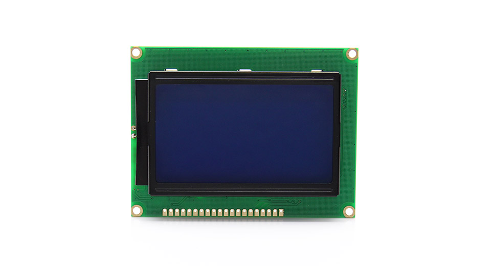 "5V 3.2"" LCD12864 Screen Module with Backlit (Yellow + G"