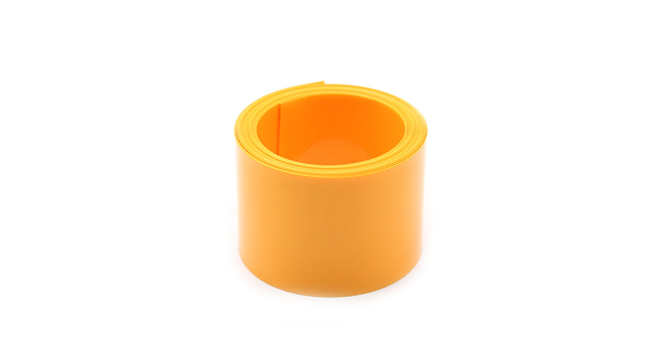 Product Image: single-18650-battery-pvc-heat-shrink-tubing-yellow