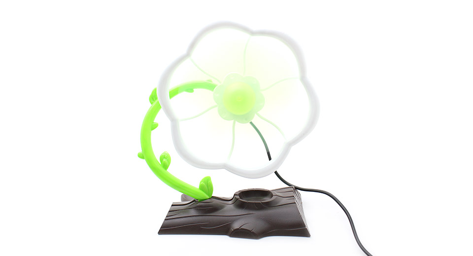 Flower Style 5-Blade Flexible Fan w/ USB Charging Cable