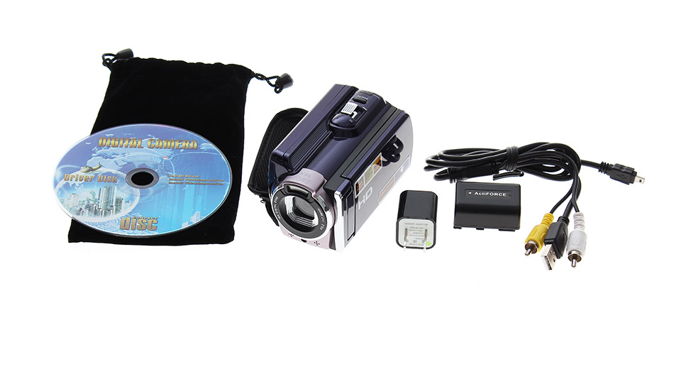 HDV-603 3.0-inch TFT LCD Screen 5.0MP CMOS 16X Digital Zooming Video Camcorder(Blue)
