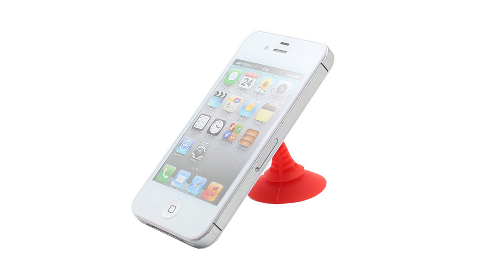 2-in-1 Silicone Sucker Desk Stand Holder for iPhone / C
