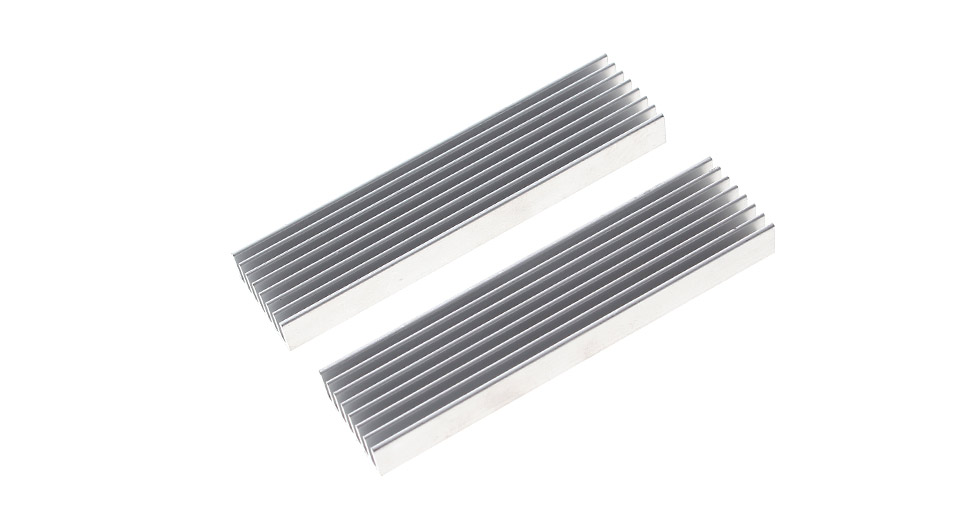 100*25*10mm Aluminum Heatsink (2-Pack)
