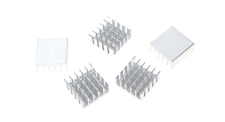 22*22*10mm Aluminum Heatsink (5-Pack)