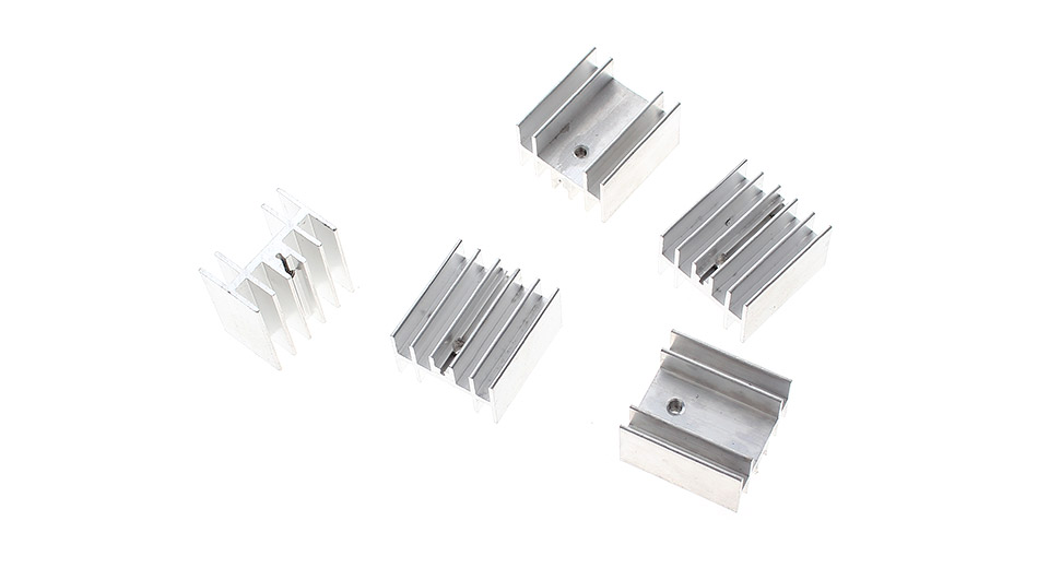 Product Image: 252316mm-aluminum-heatsink-5-pack