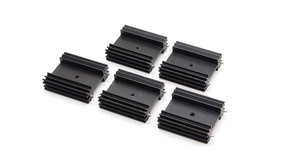 38*34*12mm Aluminum Heatsink (5-Pack)