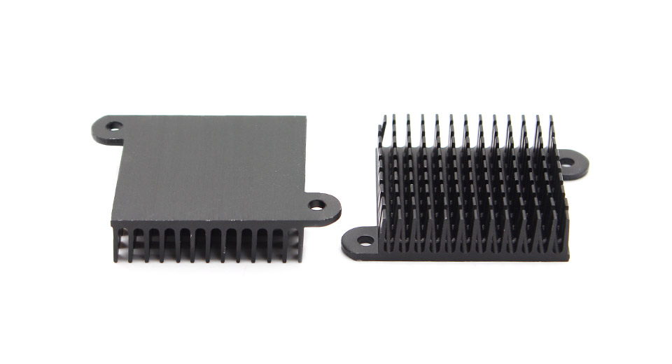 35*35*10mm Aluminum Heatsink with Screws (2-Pack)
