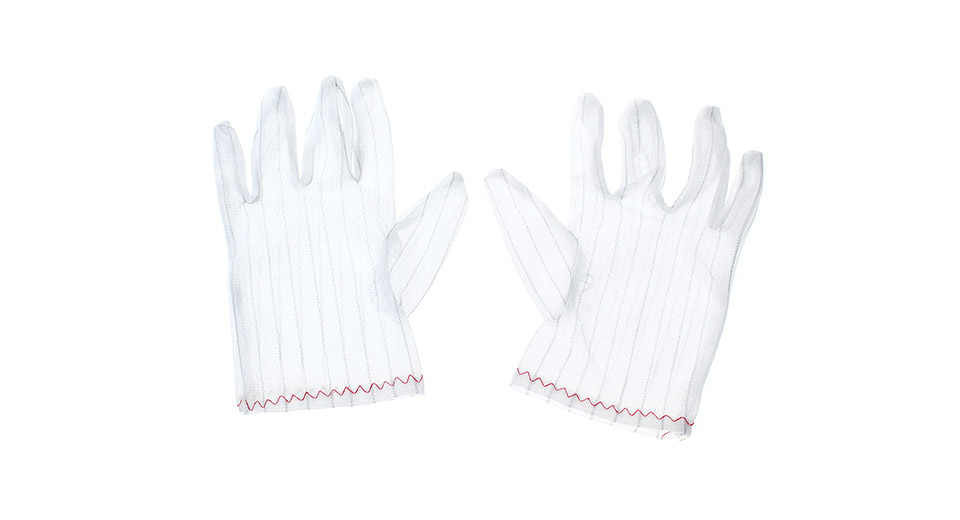 Reusable Anti-Static Polyester Gloves for PC Repair Ele