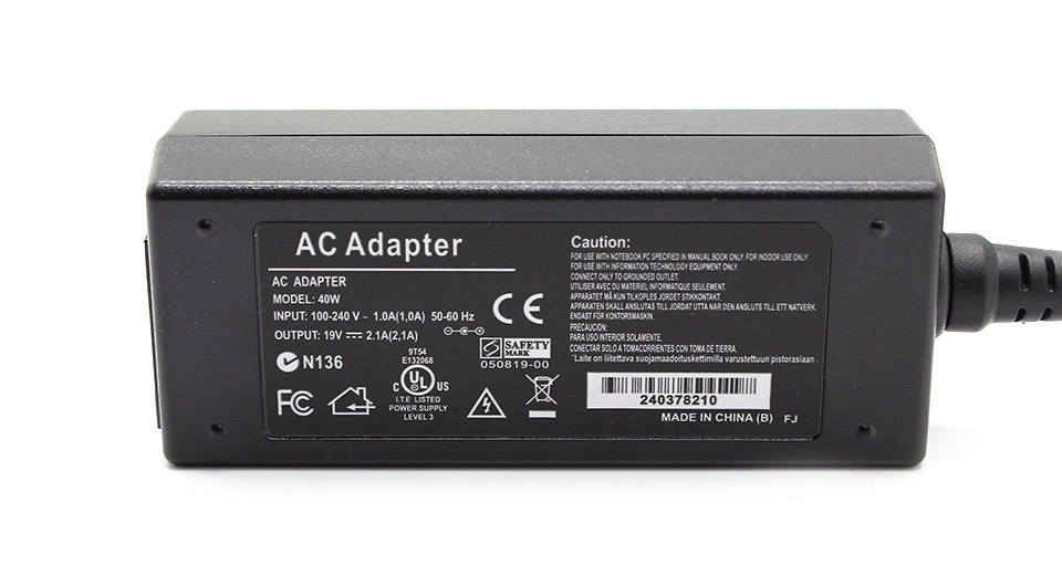 40W Replacement Power Supply AC Adapter 2.3mm*0.7mm con