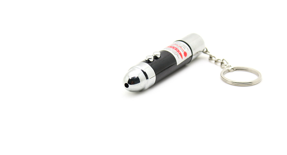 Shock-Your-Friend Red Laser Pointer Keychain 3*AG13
