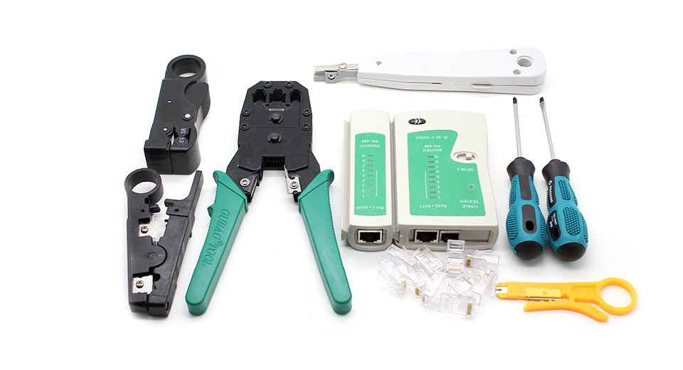 $27.94 WL-11PC Multifunctional 11-in-1 Network Tool Kit at ...