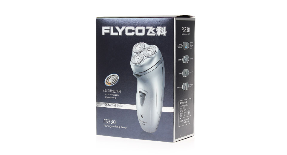 FLYCO FS330 Rechargeable Triple-Blade Men's Rotary Shaver Razor